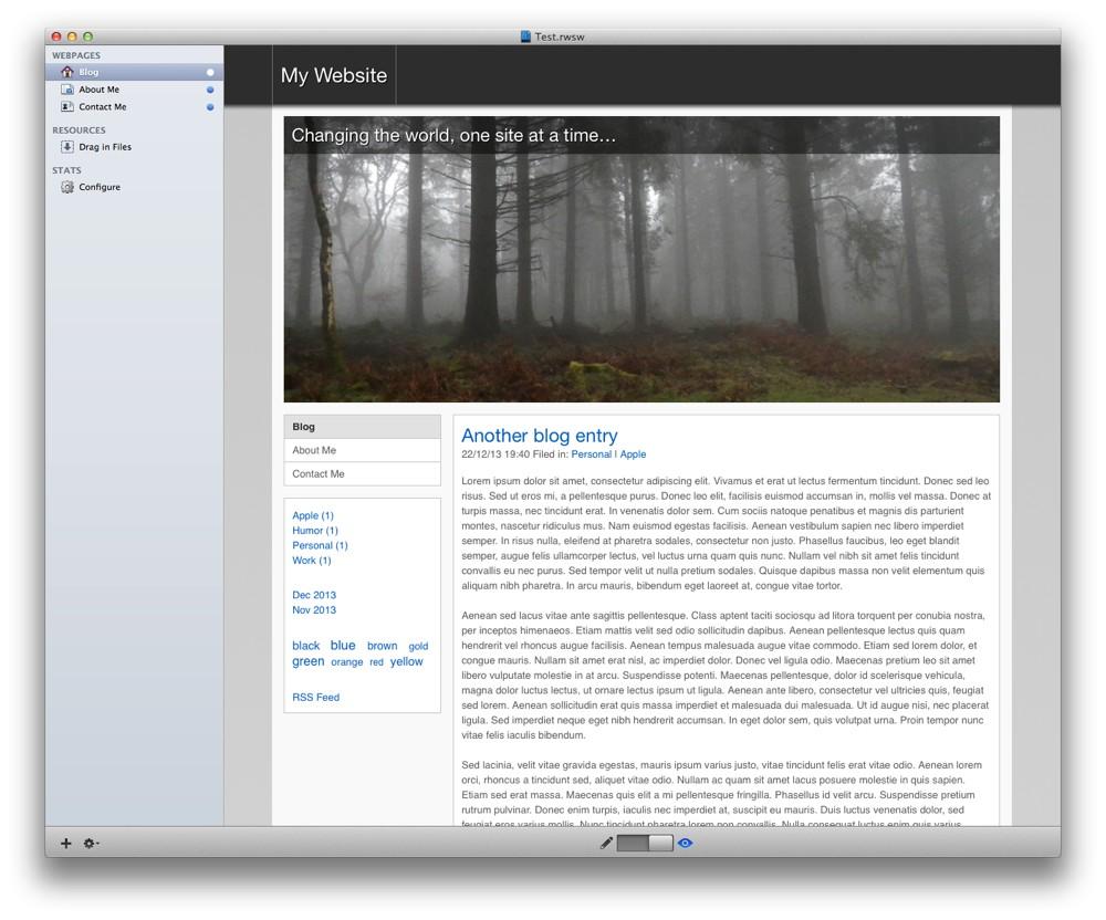 Blog without sidebar headings