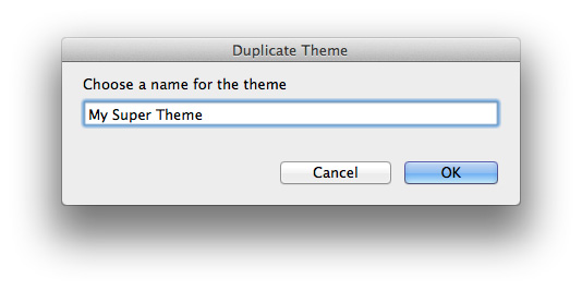 Renamed RapidWeaver theme