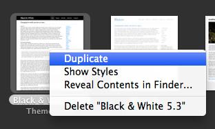Duplicate RapidWeaver theme