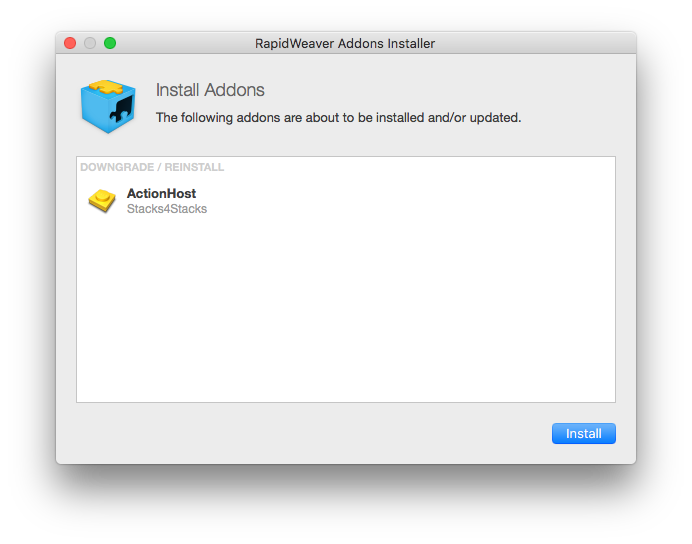 The RapidWeaver Add-on Installer.