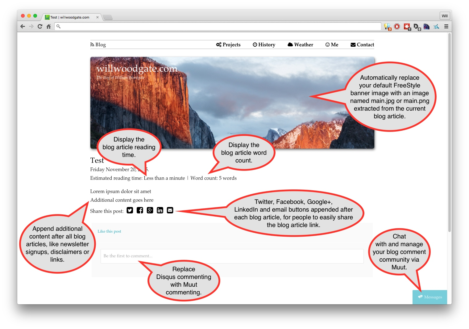 RapidWeaver Blog Enhancement Kit