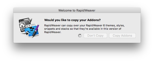 Copying RapidWeaver addons from an older version